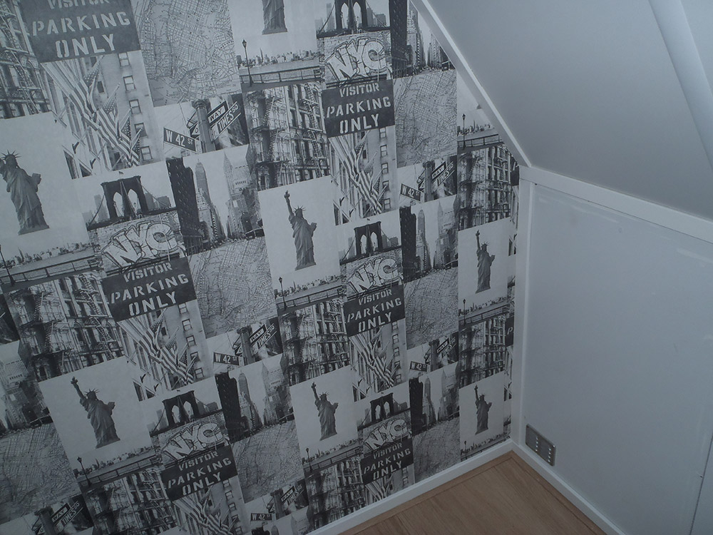 Behang kamer elsto schilderwerken for Behang kamer